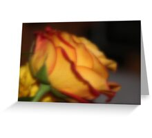 Tea Rose Faux Painting Greeting Card