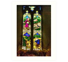 Window All Saints Church- Hawnby #4 Art Print