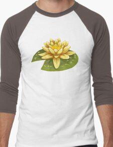 Cute Yellow Lily Pad Men's Baseball ¾ T-Shirt