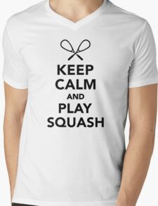 Keep calm and play Squash Mens V-Neck T-Shirt