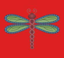 Dragonfly Garden One Piece - Short Sleeve