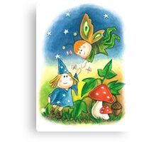 witch and elf Canvas Print