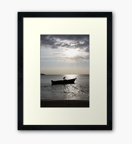 In summer, the song sings itself... Framed Print