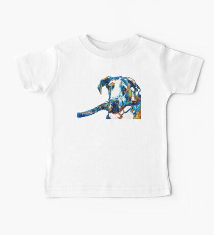 Great Dane Art - Stick With Me - By Sharon Cummings Baby Tee