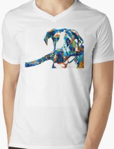 Great Dane Art - Stick With Me - By Sharon Cummings Mens V-Neck T-Shirt