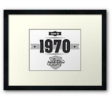 Born in 1970 Framed Print