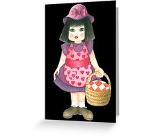 pink doll Greeting Card