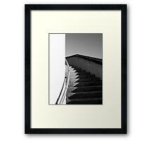 Curving Staircase Framed Print