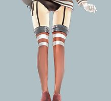 Amatsukaze Skirt Up by Revoltec17