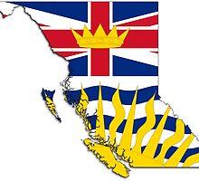 British Columbia Flag Map  by abbeyz71