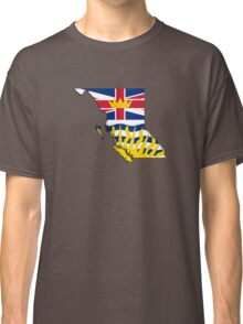 British Columbia Flag Map  Classic T-Shirt