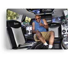 In the back of my limo Canvas Print