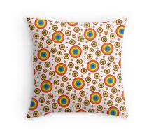 Rainbow Polka Dots Pattern Throw Pillow