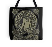 Mermaid and Skulls - Monochrome Tote Bag