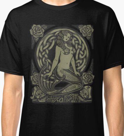 Mermaid and Skulls - Monochrome Classic T-Shirt