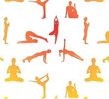 Yoga Positions In Gradient Colors by Almdrs
