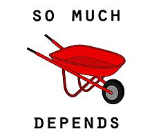 So much depends upon a red wheelbarrow Photographic Print