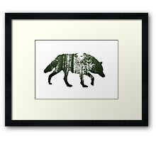The invisible wolf Framed Print