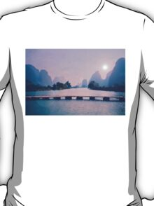 Wooden foot bridge in China T-Shirt