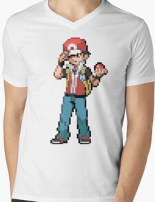 Pokemon Trainer Red Mens V-Neck T-Shirt