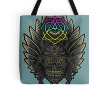Winged Skull Scarab - Colors Tote Bag