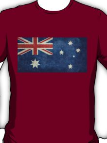 The National flag of Australia, retro textured version (authentic scale 1:2) T-Shirt