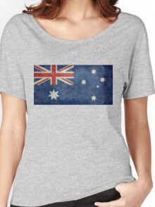 The National flag of Australia, retro textured version (authentic scale 1:2) Women's Relaxed Fit T-Shirt