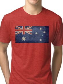 The National flag of Australia, retro textured version (authentic scale 1:2) Tri-blend T-Shirt