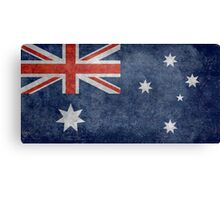 The National flag of Australia, retro textured version (authentic scale 1:2) Canvas Print