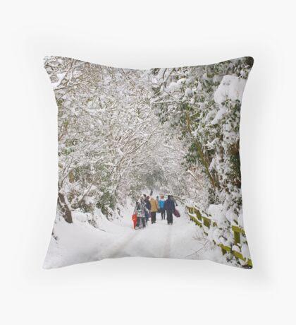 An Unexpected Holiday Throw Pillow