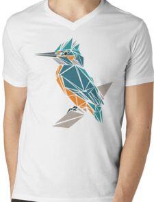 Triangle Kingfisher Mens V-Neck T-Shirt