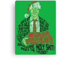 Holy Shit! Where's the Tylenol? X-Mas Canvas Print