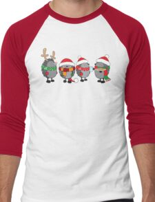 Christmas hedgehogs Men's Baseball ¾ T-Shirt