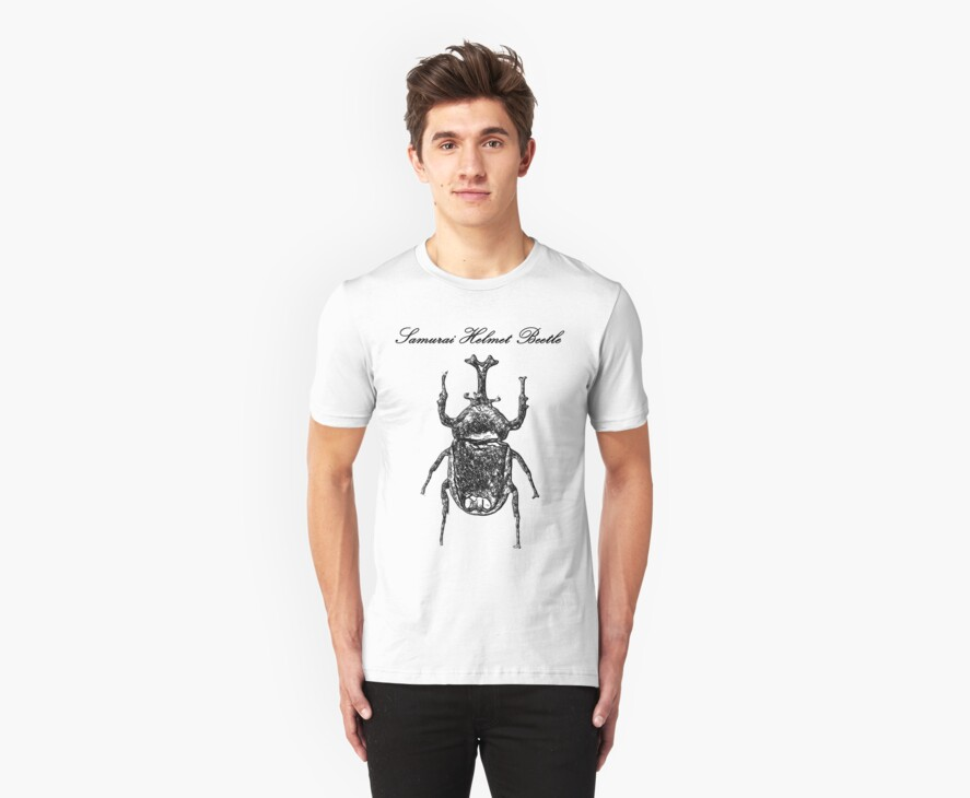 Samurai Helmet Beetle by buyart