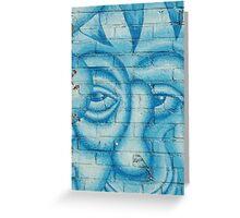 Light blue Greeting Card