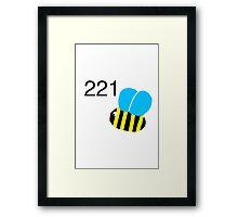 221 bee Framed Print