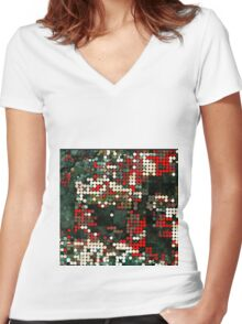 location, location,location Women's Fitted V-Neck T-Shirt