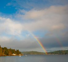 Hood Canal rainbow by Jaime Pharr
