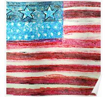 Abstract American Flag Poster