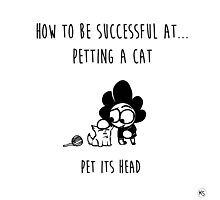 How to be successful at petting a cat Photographic Print