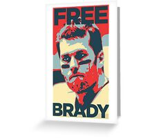 Free Brady Deflate Gate Tom Patriots Greeting Card