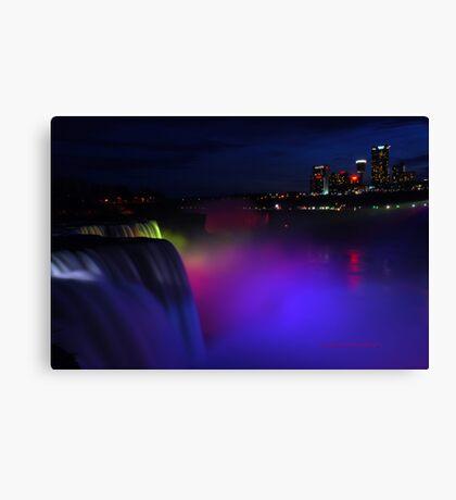 Colorful Niagara falls Canvas Print