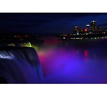 Colorful Niagara falls Photographic Print