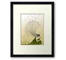 * the girl with dandelion hair * Framed Print