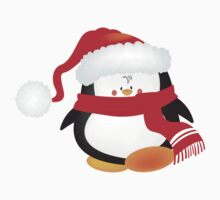 cute little xmas penguin Baby Tee