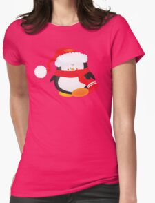 cute little xmas penguin Womens Fitted T-Shirt