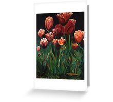 Multicolor Tulips Greeting Card