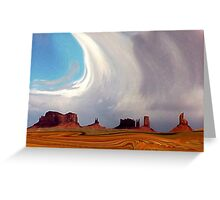 Swirling in Monument Valley Greeting Card