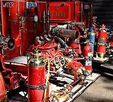 Rear of Two Fire Truck 2 by odarkeone