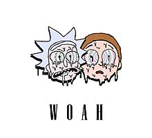 Reck n Melty - Fanmade Rick and Morty Design Photographic Print